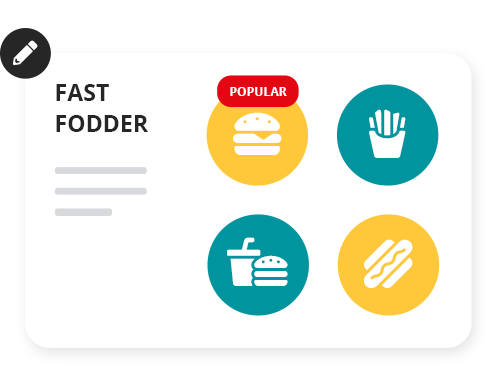Customise your dashboard. The home screen of your point of sale can be customised to suit your business. Add large icons or pictures of popular products to make it quick and easy to find them in the checkout. You can even add items into groups if you have similar products under the one category.