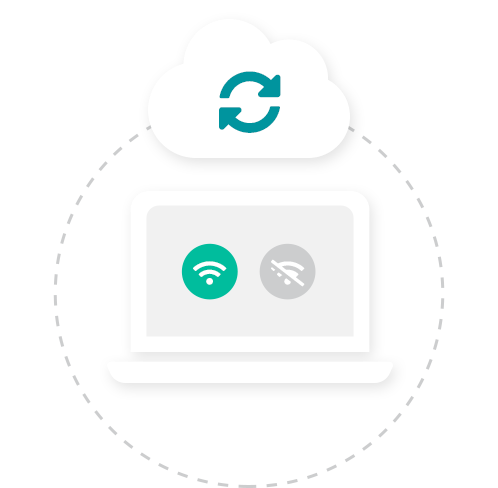 Work online or offline. Reckon Cloud POS works online and offline so you never miss a sale even if you lose internet connection. Your inventory and POS sales will automatically sync back to the cloud when your internet connection returns.