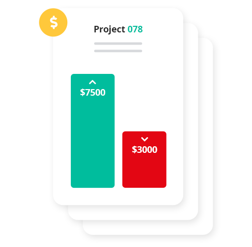 Get deeper insight into your business with profitability summaries to document the amount earned or lost on individual projects.