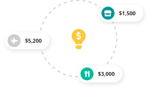 Know exactly where your money is going. Understand where money goes and where you can cut back. Create budgets, track where your money is being spent. Giving you insights so you can spend & save even smarter.