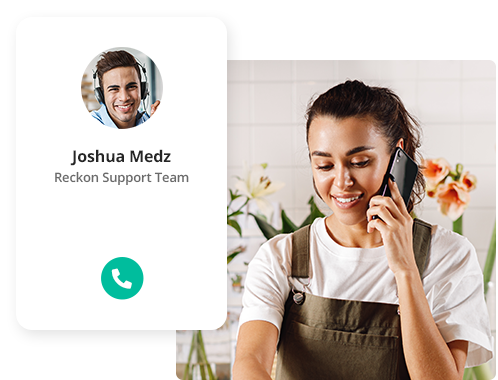 Receive support in real-time from a real person